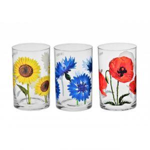 "Komplet szklanek ""Kwiaty polskie"""