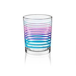 Komplet szklanek dekorowanych PLUM 3 szt.