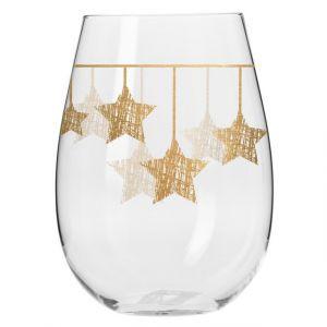 Szklanki STAR gwiazdki wiszące złote