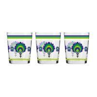 Komplet szklanek FOLK Zielono-Fioletowy