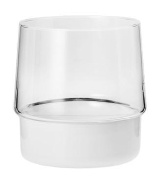 Świecznik szklany z kloszem KROSNO Opal