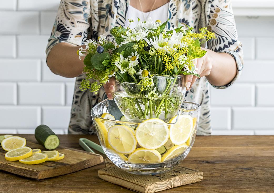 Bukiet kwiatów w salaterce Swing KROSNO