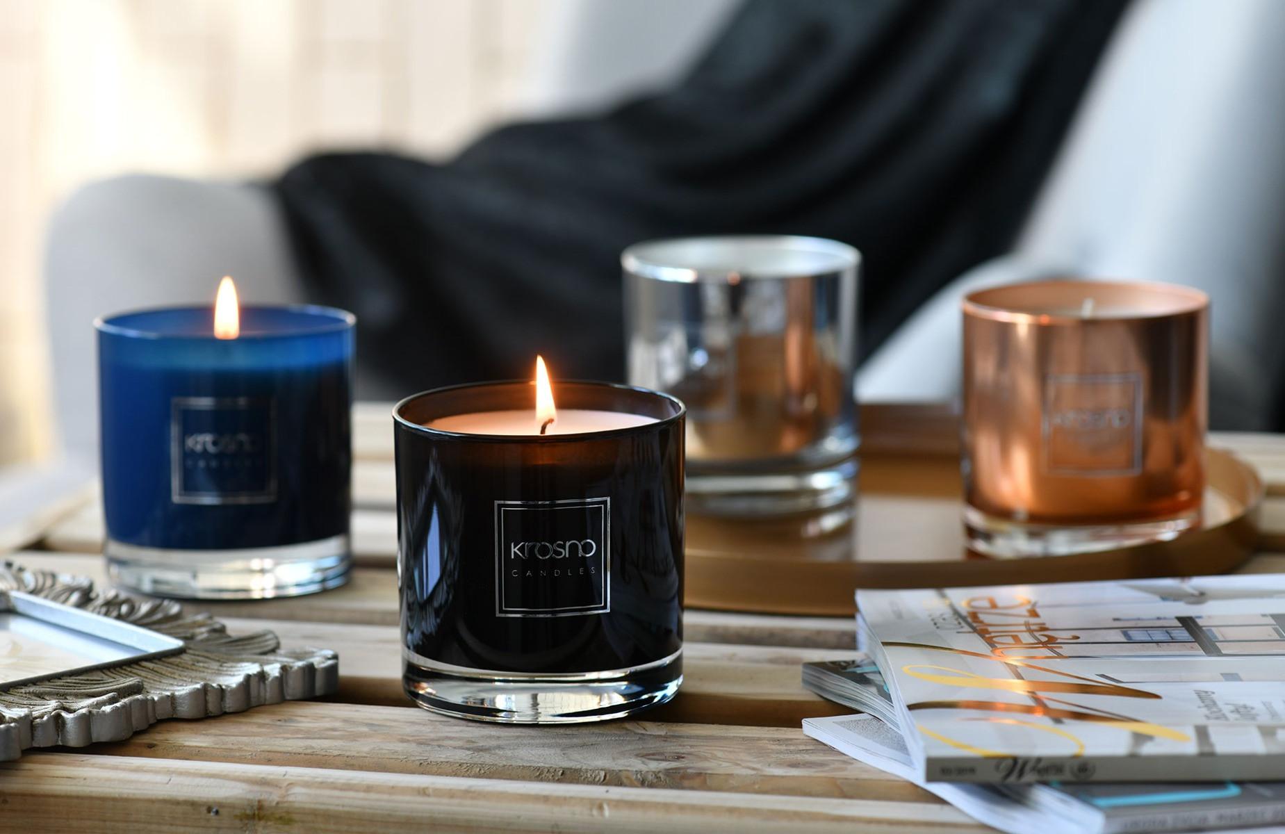 Dekoracyjne świece zapachowe Splendour KROSNO Candles